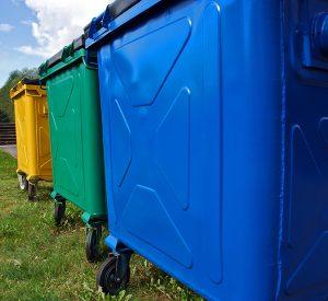 Trash bins for recycling