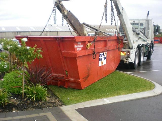residential skip bin for waste disposal