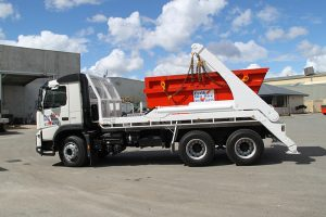 lift on skip bin Perth Bin Hire