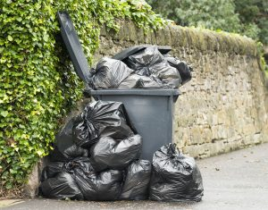 garbage bags in bin